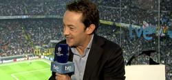 Sergio Sauca, narrador habitual de los partidos de Champions en TVE.
