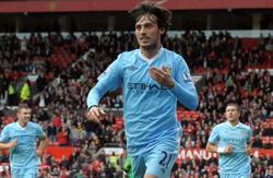 Silva celebra su tanto en Old Trafford. | EFE