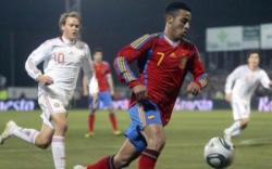 Thiago Alcántara, durante un partido con la selección de Milla. | EFE