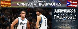 La web de los Timberwolves.