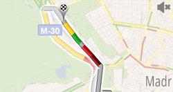 El tráfico en Google Maps