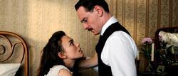 Keira Knightley y Michael Fassbender en Un métido peligroso