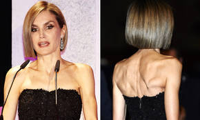 Una fibrosa reina Letizia se corta el pelo a lo bob Chic