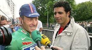 Lance Armstrong y Miguel Induráin, en una imagen de archivo. | EFE