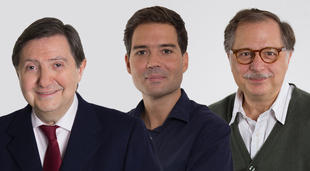 Federico Jiménez Losantos, Dieter Brandau y Luis Herrero.