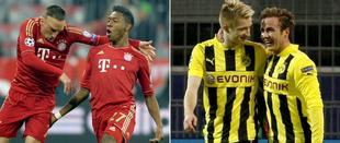 Bayern y Borussia, rivales de Barça y Real Madrid en semifinales.