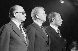 Begin, Carter y Sadat en la firma de los Acuerdos de Camp David | Archivo