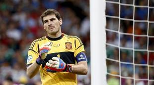 Iker Casillas, durante la final contra Italia. | EFE