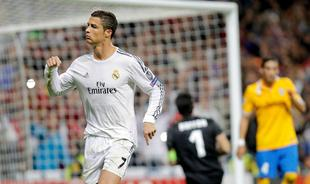 Cristiano Ronaldo celebra su segundo gol a la Juventus de Turín. | Cordon Press