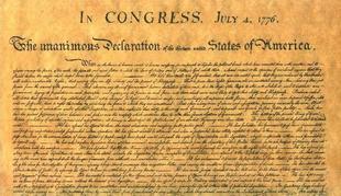 Aspecto de la Declaración de Independencia de los EEUU de 1776