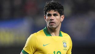 Diego Costa, durante un amistoso con la selección brasileña en marzo pasado. | Archivo