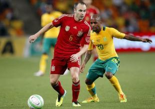 Iniesta, durante el partido de Johannesburgo. | EFE