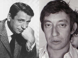 Yves Montand y Serge Gainsbourg