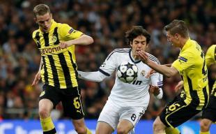 Kaká, durante el partido ante el Borussia.