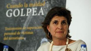 María San Gil durante la presentación de \'Cuando la maldad golpea\' | EFE
