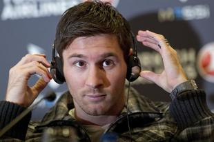Messi en la rueda de prensa donde habló del catalán | EFE