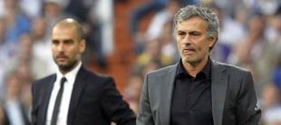 Mourinho y Guardiola, en una imagen de archivo.   EFE
