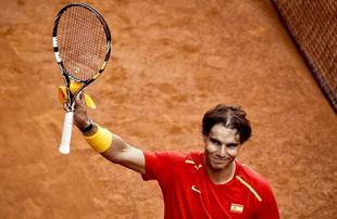 Rafa Nadal celebra su triunfo ante Sergiy Stakhovsky. | EFE