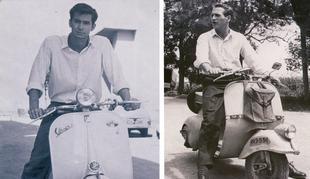 Anthony Perkins y Paul Newman en Vespa