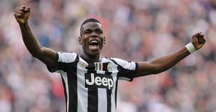 Pogba celebra un tanto con la Juventus.   Cordon Press