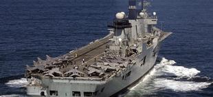 El HMS Illustrious, uno de los buques que participan en las maniobras | Royal Navy