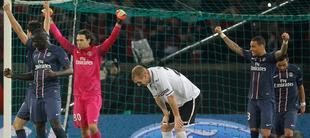 Los jugadores del PSG celebran el triunfo. | Cordon Press