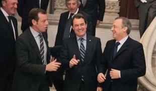 Sandro Rosell, Artur Mas y Florentino Pérez. | Archivo