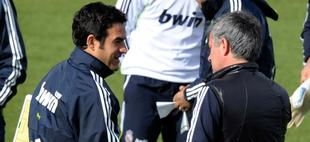 Toril y Mourinho, en un entrenamiento | Archivo