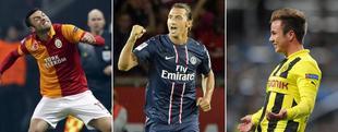 Yilmaz, Ibrahimovic y Götze, amenazas para Madrid, Barça y Málaga.