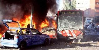 Atentado de la banda terrorista en Madrid.