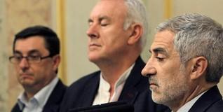 Los líderes de IU, tras la muerte de Carrillo | EFE