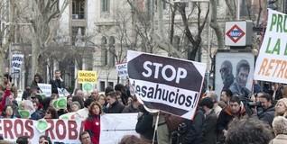 Protesta convocada por la Plataforma de Afectados por la Hipoteca (PAH) | D. Alonso