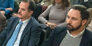 Carlos Iturgáiz y Santiago Abascal, en la presentación del libro