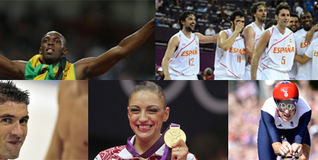 Bolt, Phelps, Kanaeva, Wiggins o los chicos del baloncesto español son sólo algunas de ellas. | EFE
