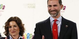 Ana Botella y el Príncipe apoyando los JJOO para Madrid  | EFE