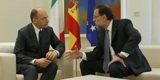 Rajoy, junto a Letta en Moncloa | Diego Crespo