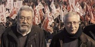 Ricardo Martínez, Cándido Méndez, FErnández Toxo y Javier López, en la previa del 14N. | EFE