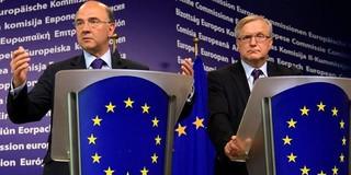 El ministro de Economía francés junto a Oli Rehn | EFE