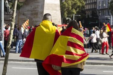 Manifestación en Barcelona el pasado 12 de octubre
