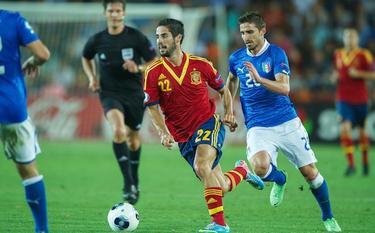 Isco, durante la final contra Italia