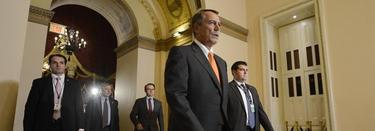 El republicano John Boehner, junto a congresistas del partido. | Efe