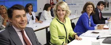 González y Aguirre, en la reunión del Comité Ejecutivo | EFE