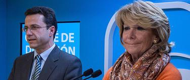 Aguirre y el Consejero de Sanidad, Javier Fernández Lasquetty | LD