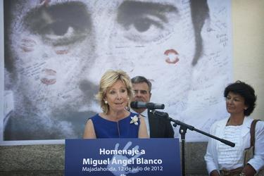 Aguirre, en el homenaje a Blanco | Comunidad de Madrid