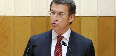 Alberto Nuñez Feijoo, en el debate de investidura.   EFE