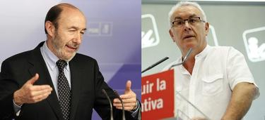 Alfredo Pérez Rubalcaba (PSOE) y Cayo Lara (IU). | Archivo