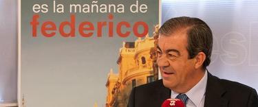 Francisco Álvarez Cascos durante una entrevista en Es la mañana de Federico, en noviembre de 2011 | LD