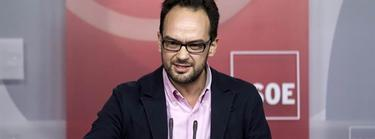 Antonio Hernando, en una rueda de prensa en Ferraz   EFE/Archivo