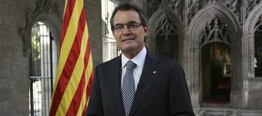 Artur Mas pronunciando su discurso este lunes | EFE