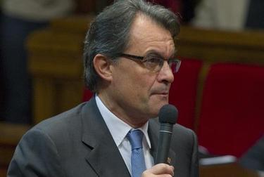 Artur Mas, durante el debate   EFE